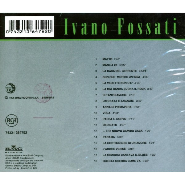 CD All the best Ivano Fossati