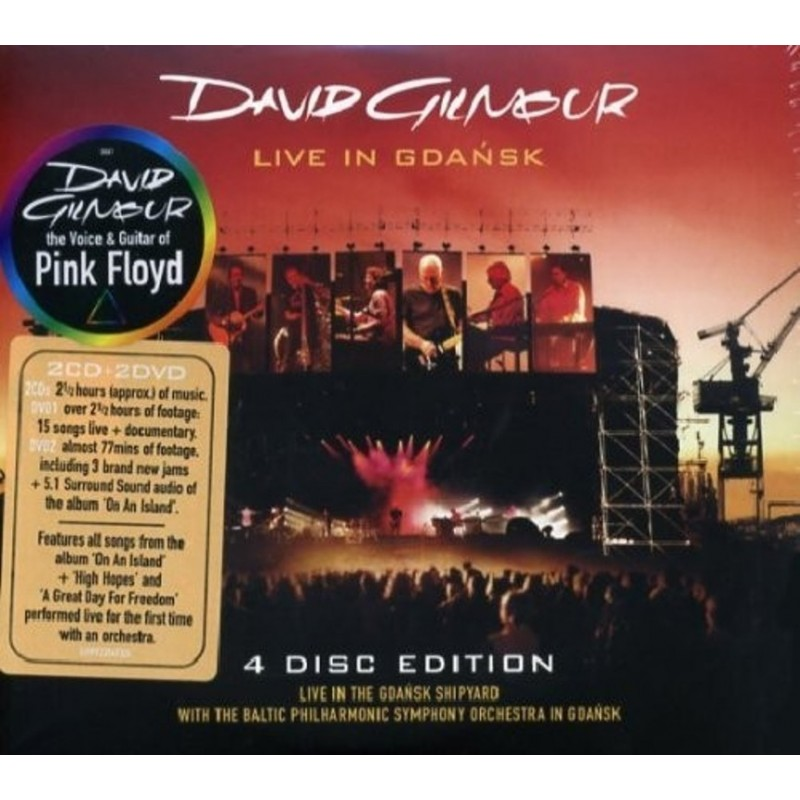 CD David Gilmour Live In Gdansk (2CD+2DVD)