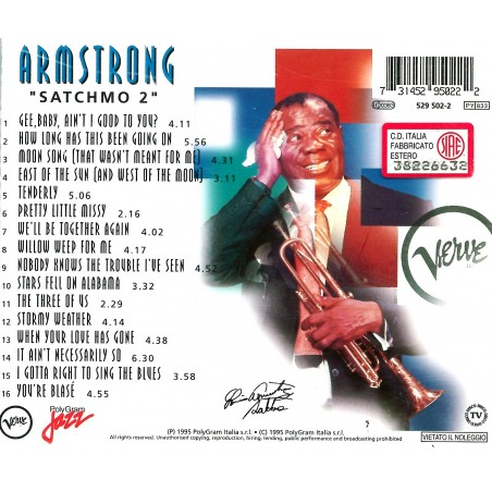CD Armstrong- satchmo 2 731452950222