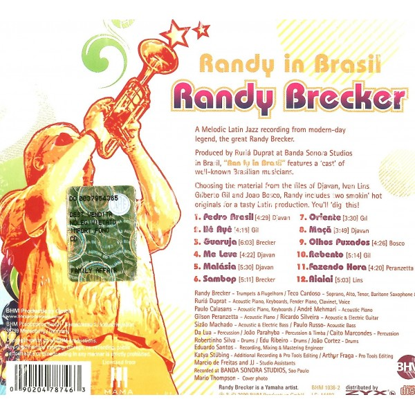 CD Randy Brecker- randy in brasil 090204787463