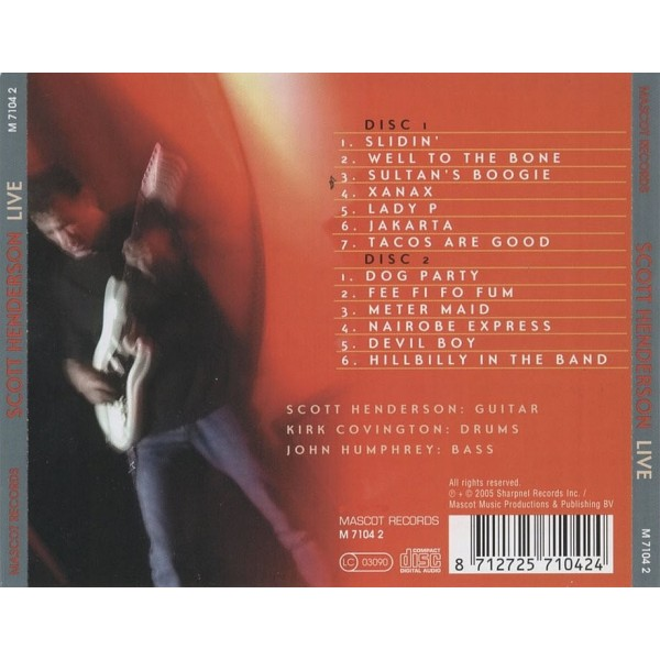 CD Scott Henderson- live 8712725710424