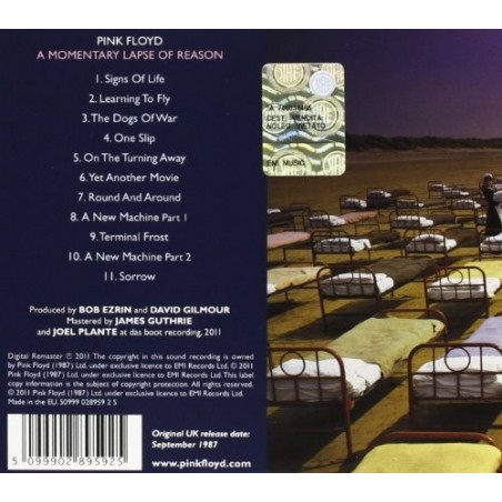 CD Pink Floyd- a momentary lapse of reason
