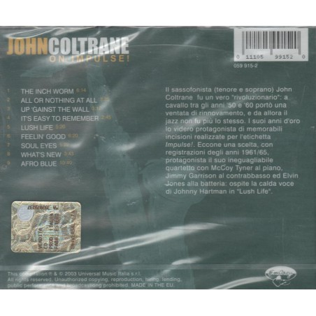 CD John Coltrane- on impulse