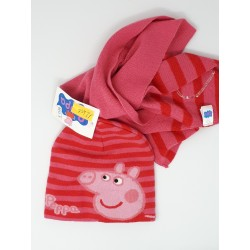 Cappello e Sciarpa Peppa Pig