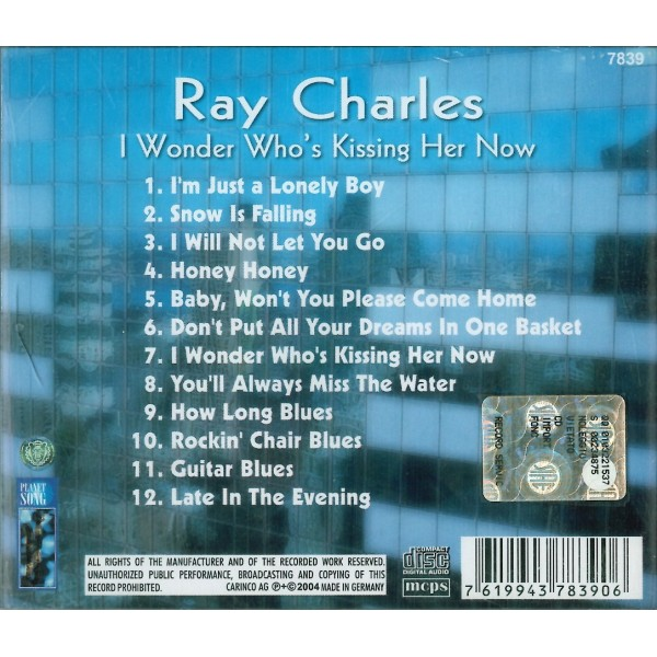 CD Ray Charles- i wonder who's kissing her now