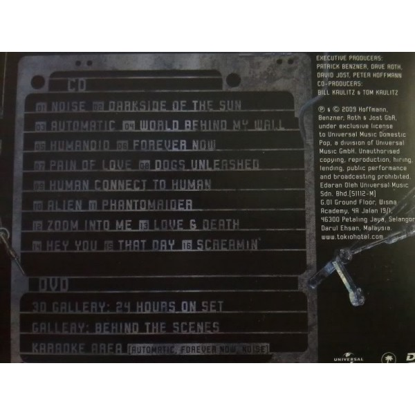 CD Tokio Hotel- humanoid CD+DVD 602527172750