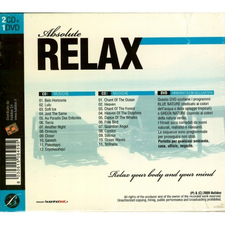 CD Absolute Relax 2CD+1DVD 8030615064595