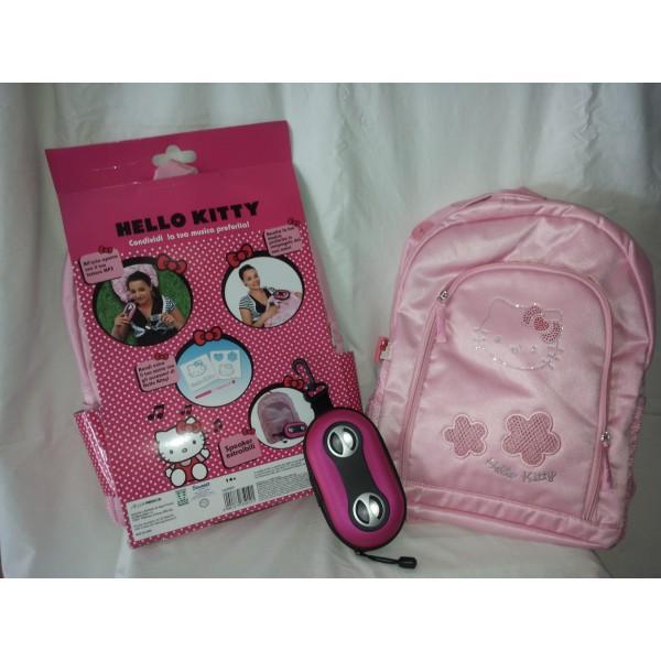 Zaino scuola - asilo + cassa musica Hello Kitty