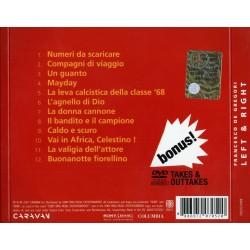 CD Francesco de Gregori- left & right document i dal vivo CD+DVD