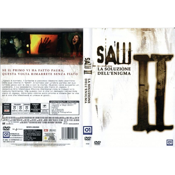 DVD SAW 2 II LA SOLUZIONE DELL'ENIGMA