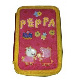 Astuccio tripla zip Peppa Pig italy style