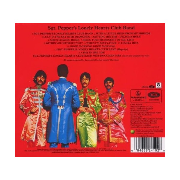 CD The beatles Sgt Pepper's Lonely Hearts Club Band (2009 Digital Remaster) 094638241928