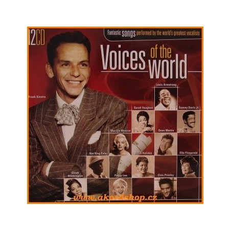 CD VOICES OF THE WORLD - FANTASTIC SONGS PERFORMED BY THE WORLD'S GREATEST VOCALISTS (12cd) 8717423047957