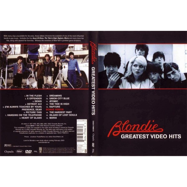 DVD BLONDIE - GREATEST VIDEO HITS 724347799693