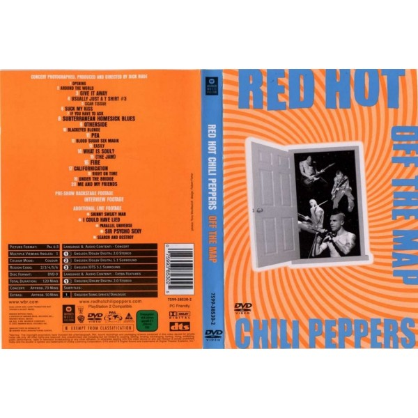 DVD RED HOT CHILI PEPPERS - OFF THE MAP 075993853025