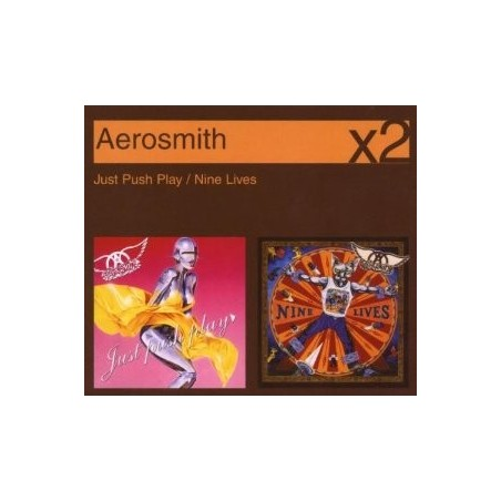 CD AEROSMITH X2 (JUST PUSH PLAY/NINE LIVES) 886971685527