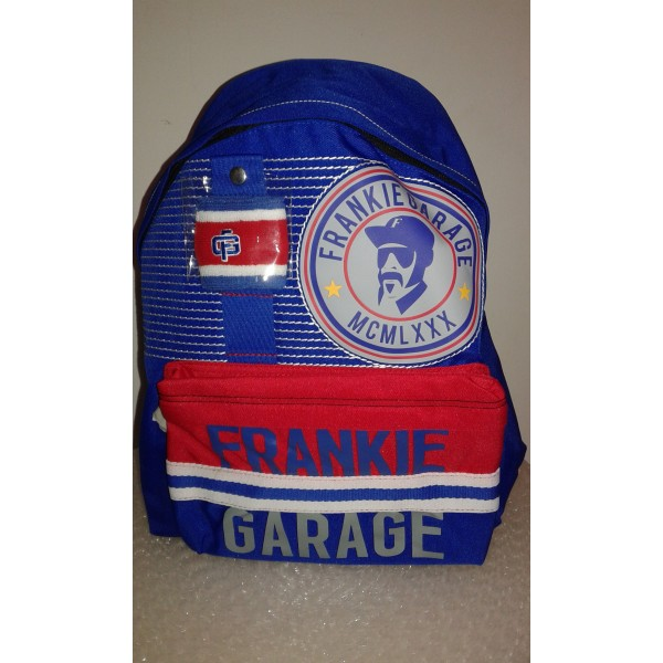 Zaino Blu Americano Frankie Garage - 8011688070812