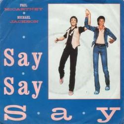 LP Paul McCartney & Michael Jackson - Say Say Say/ Ode to koala bear 7'' 45 GIRI
