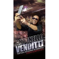 CD COFANETTO ANTONELLO VENDITTI TORTUGA UN GIORNO IN PARADISO STADIO OLIMPICO 2015 2 CD + DVD 888751704725