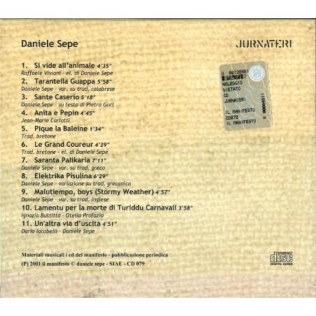 CD Daniele Sepe- jurnateri (2CD) 758390465826