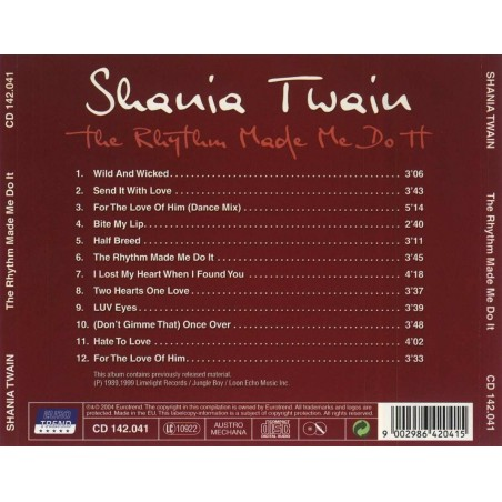 CD Shania Twain- the rhythm made do it 00115944