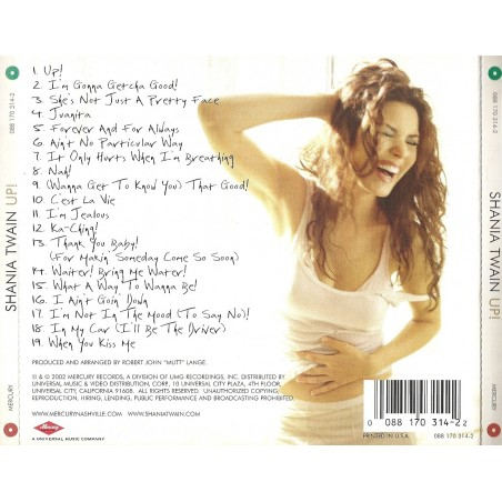 CD Shania Twain- up 008817034423