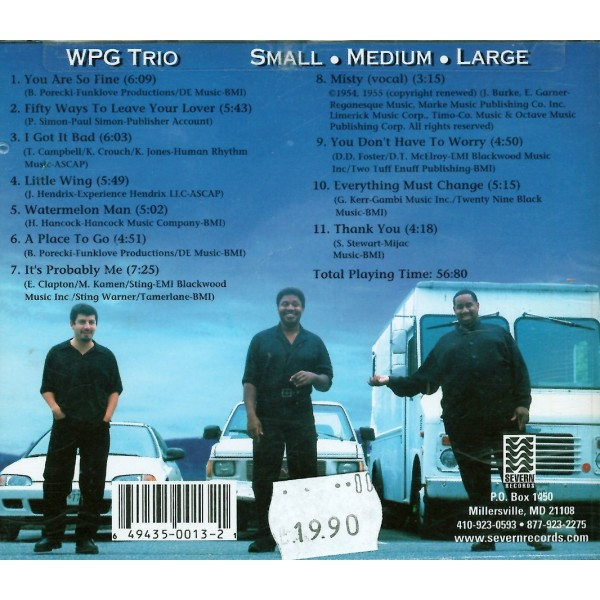 CD WPG trio- small medium large 649435001321