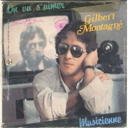"LP 45 GIRI 7"" GILBERT MONTAGNE MUSICIENNE"